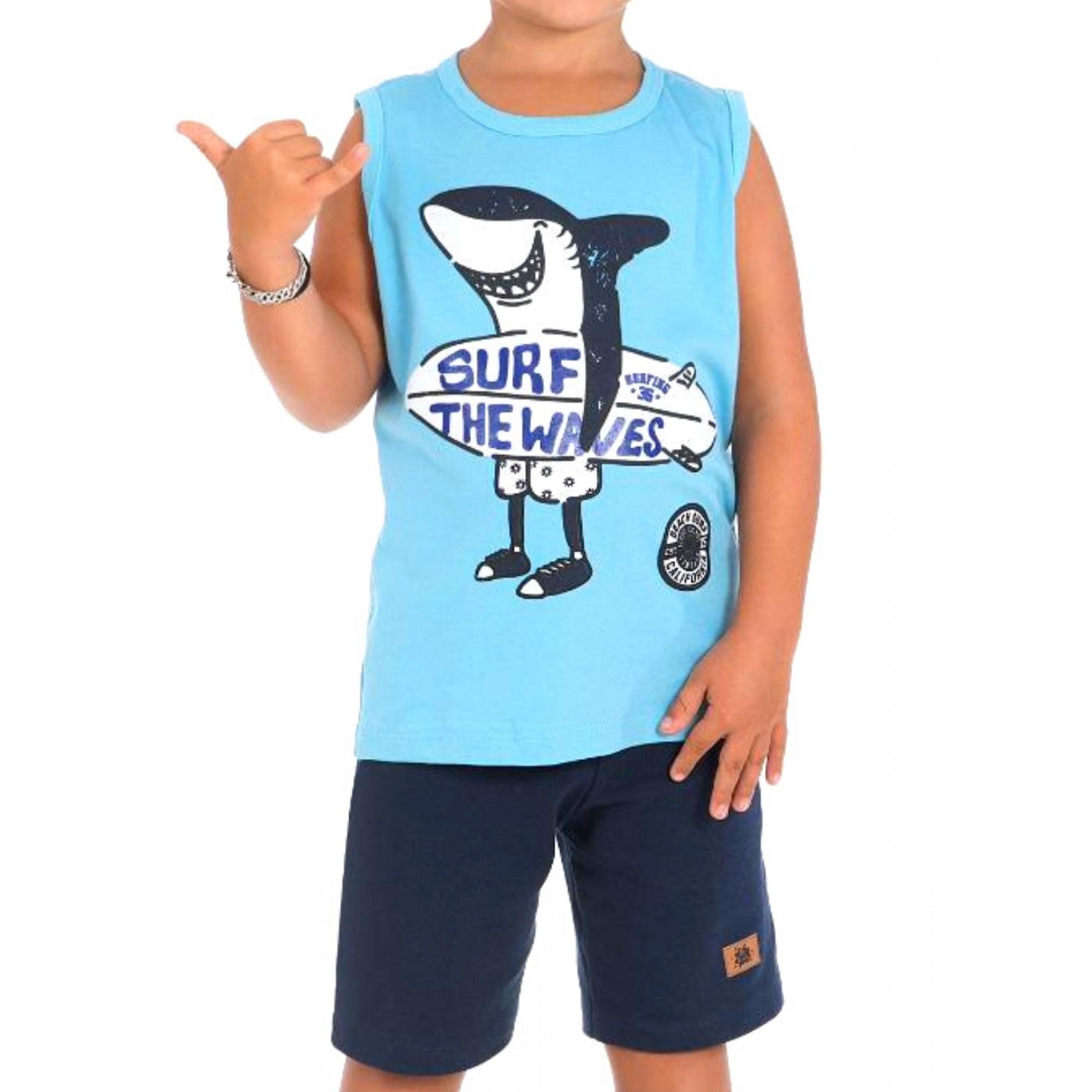 Conjunto Shark Surf Be Kids Menino