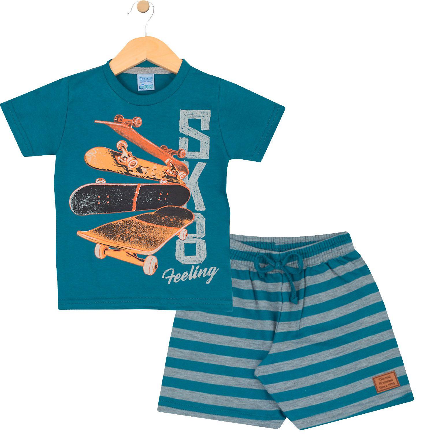 Conjunto Skate Azul TileeSul