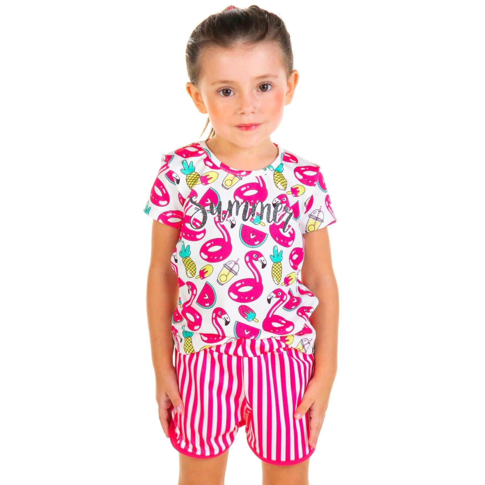 Conjunto Summer Menina TileeSul Pink