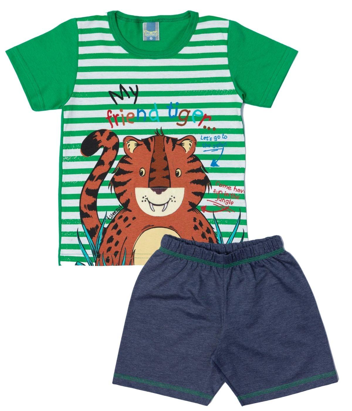 Conjunto Tiger Menino TileeSul Verde