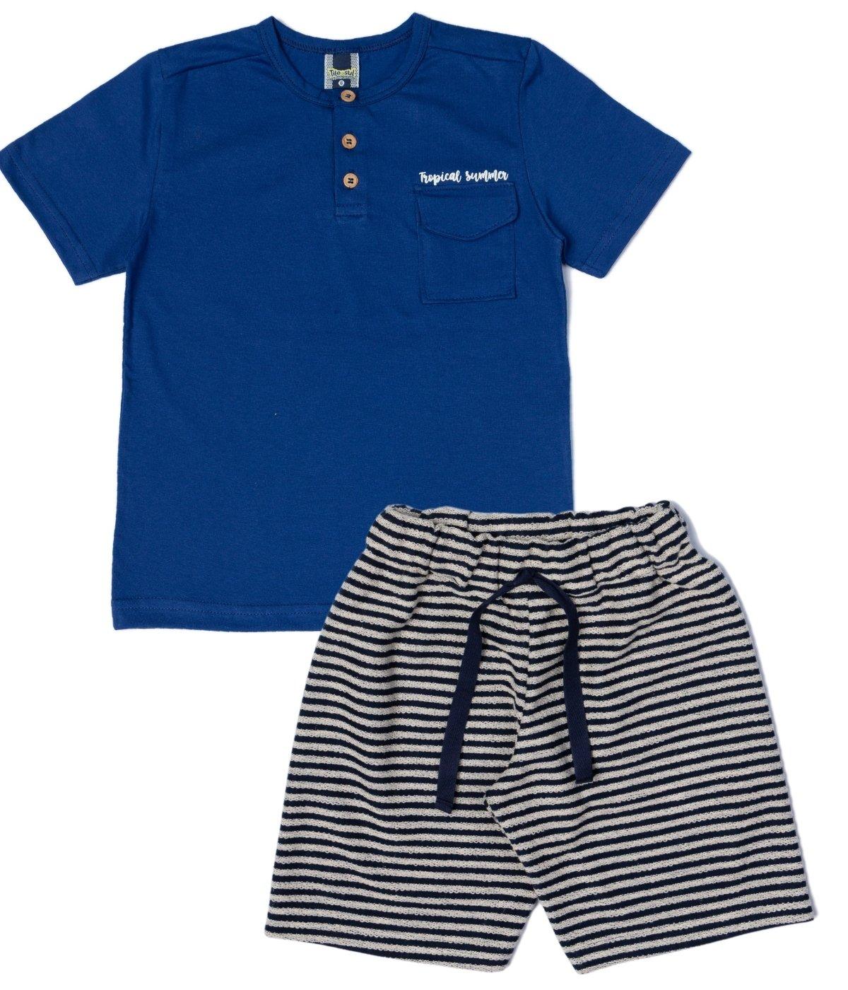 Conjunto Tropical Summer Menino TileeSul Azul