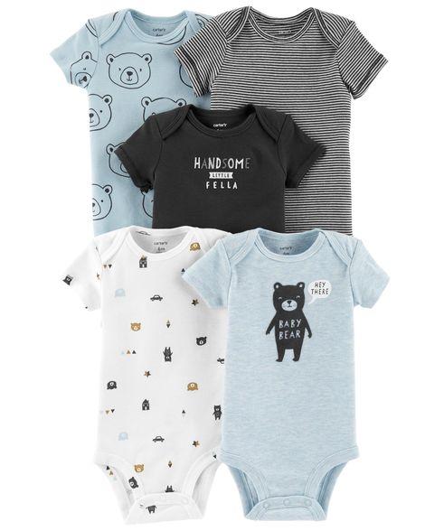 Kit Body Carter's 5 Peças Menino Baby Bear