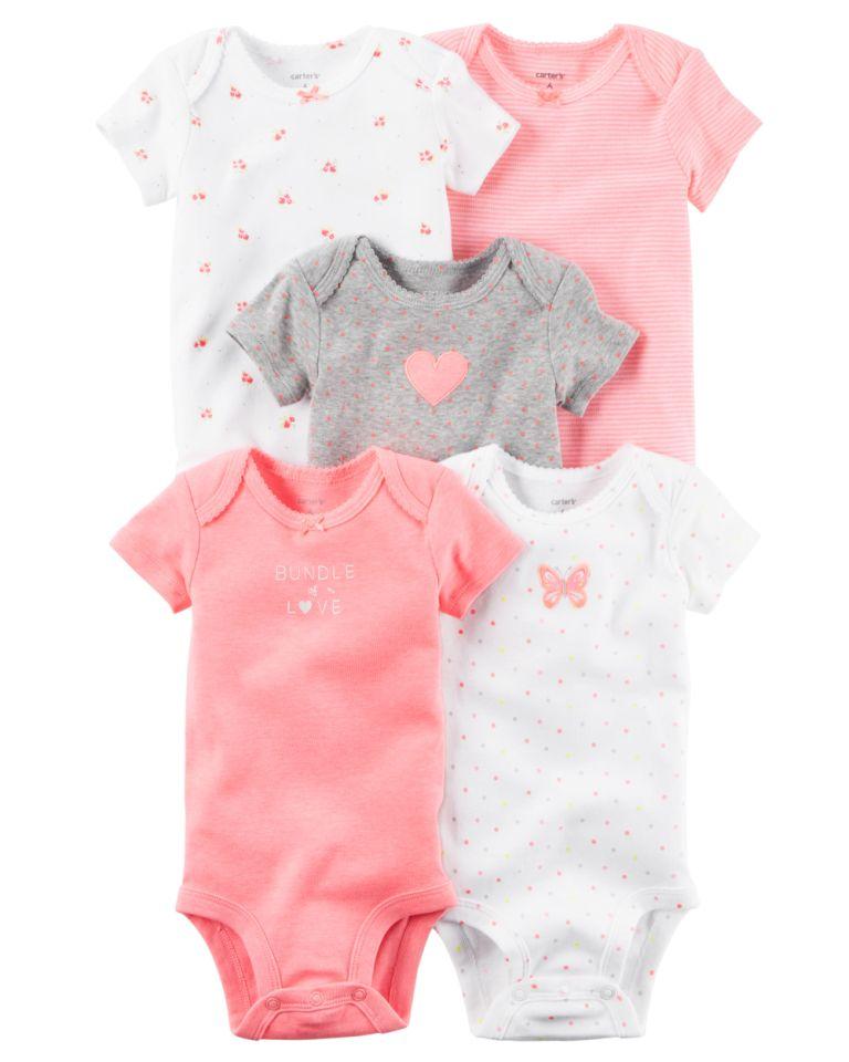 477948a482 Kit Body Carters 5 peças Rosa Neon Carter s Roupinhas de Bebê ...
