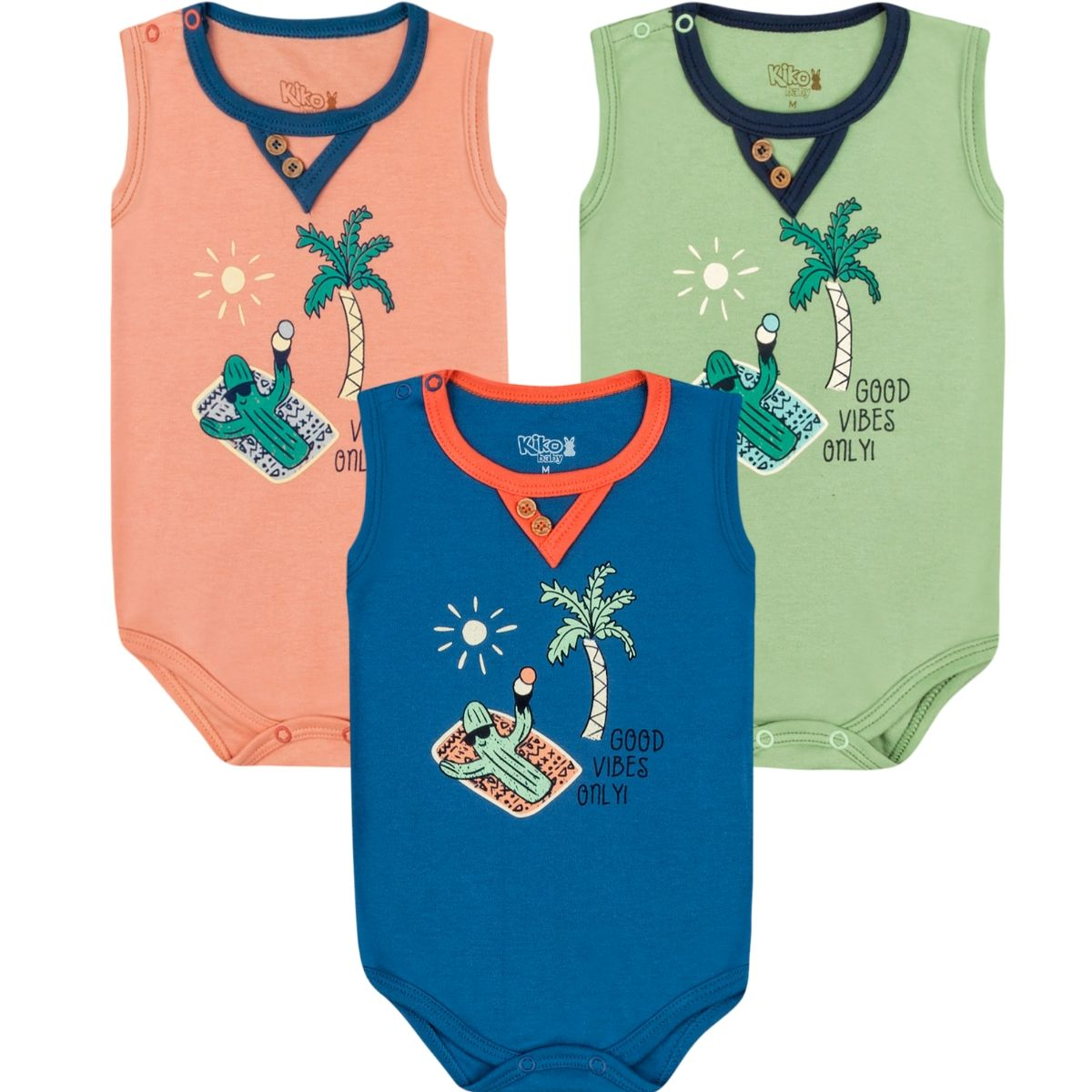 Kit Body Regata Kiko Baby Cacto