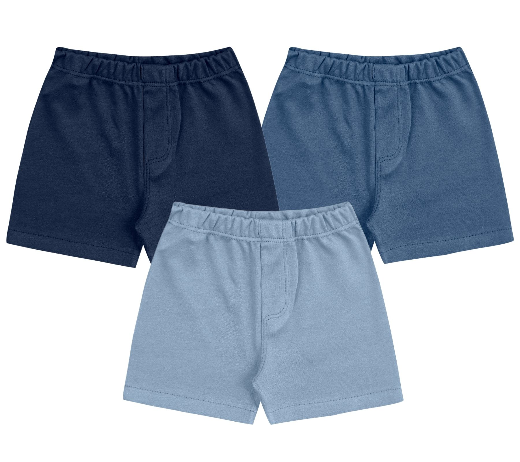 Kit Shorts Kiko Baby Liso Azul
