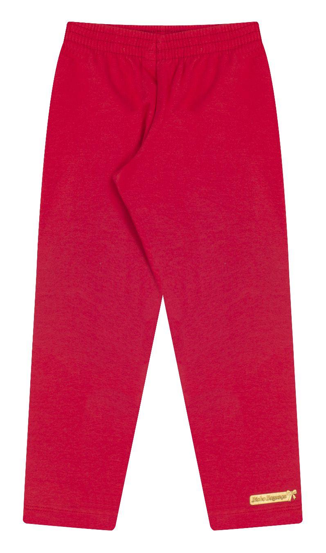 Legging Flanelada Vermelha Bicho Bagunça