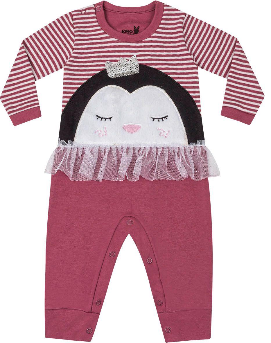 Macacão Babado Pinguim Rubi Kiko Baby