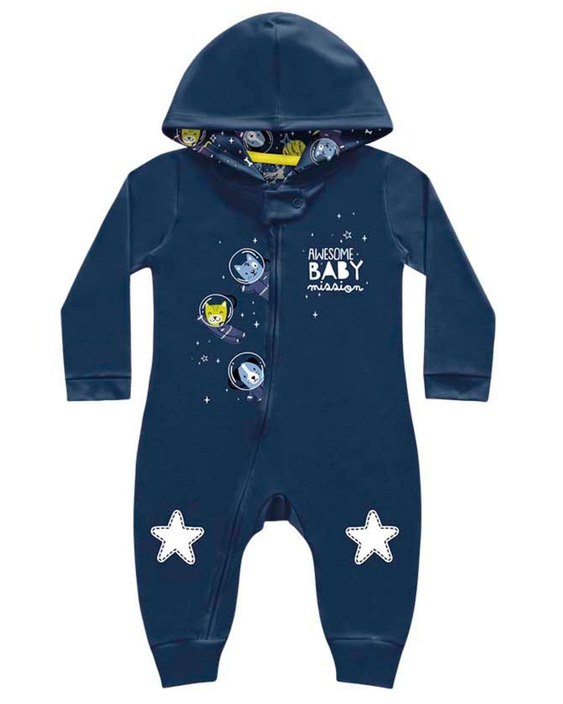 Macacão Baby Espacial Kiko Baby Marinho