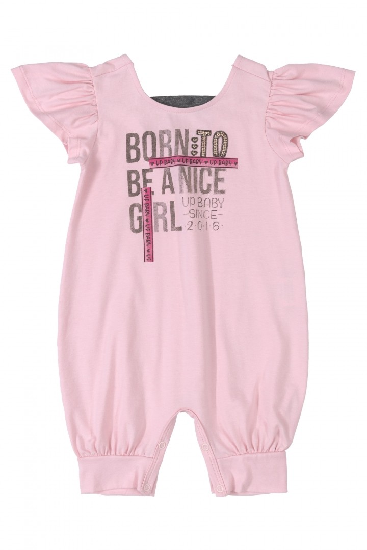 Macacão Nice Girls Rosa Up Baby Romper