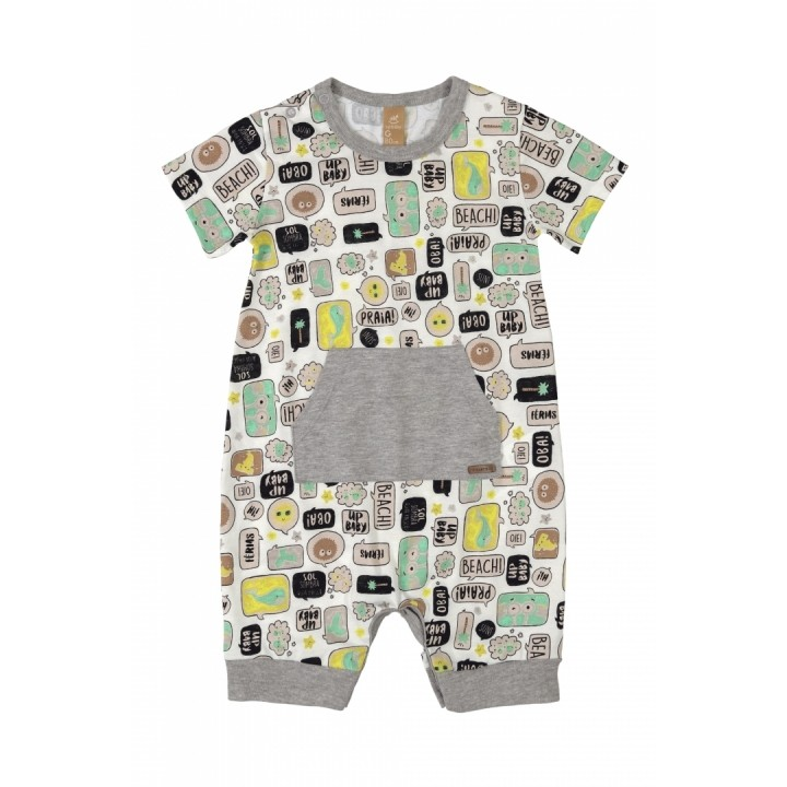 Macacão Off-White Up Baby Romper