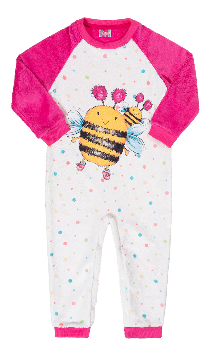 Macacão Peluciado Bee Pink Tileesul