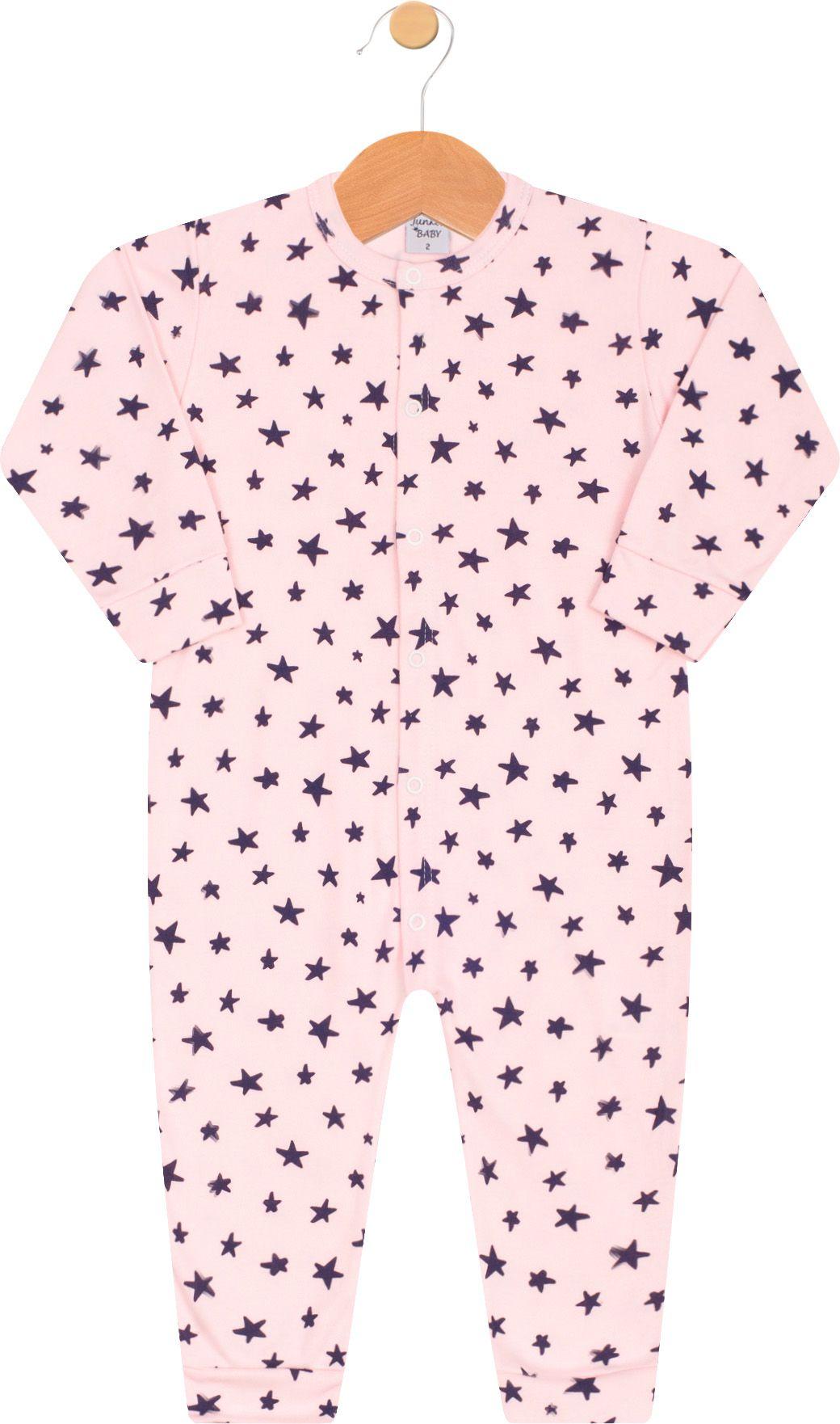Macacão Suedine Junkes Baby Estrelinhas