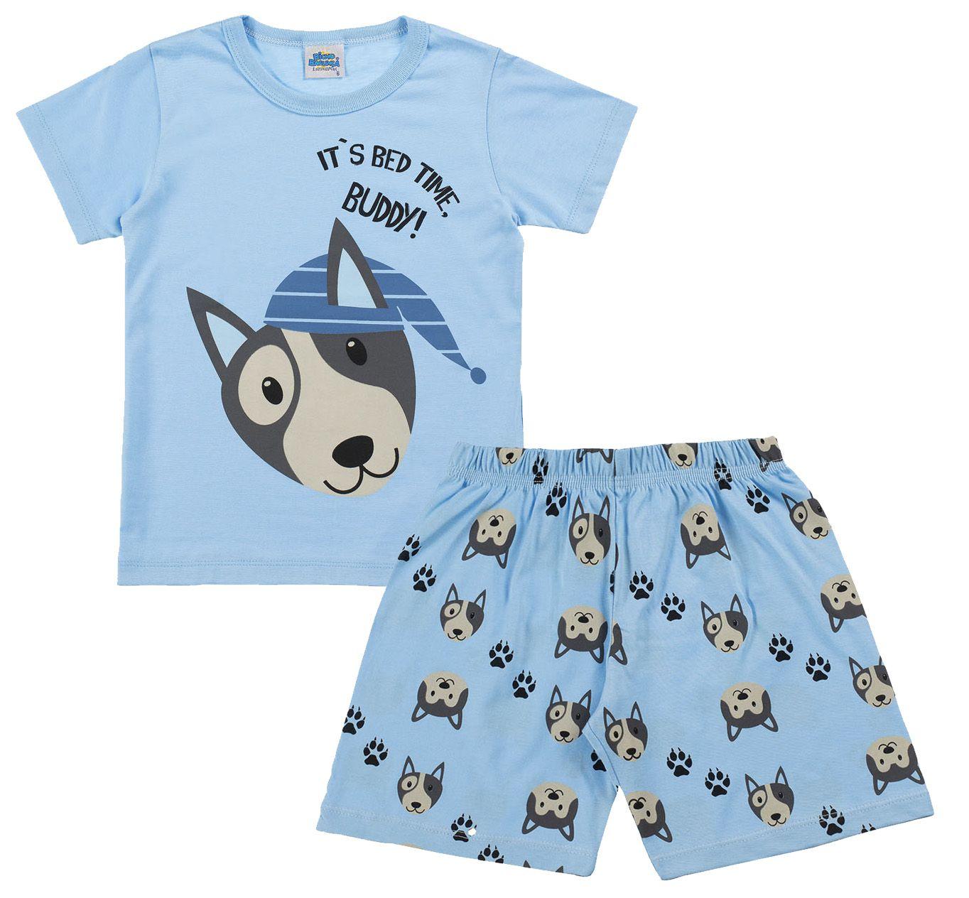 Pijama Buddy Azul Bicho Bagunça