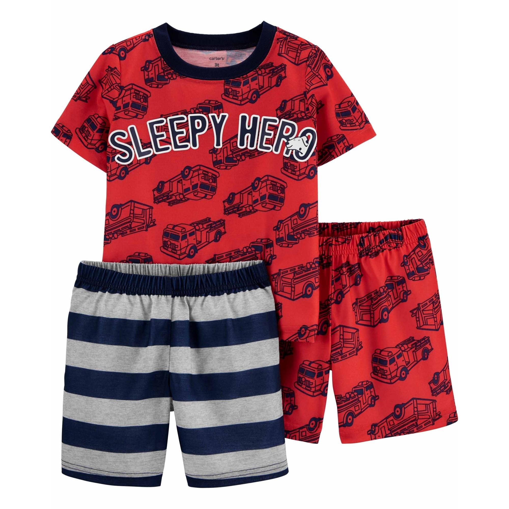 Pijama Carter's 3 Peças Sleepy Hero