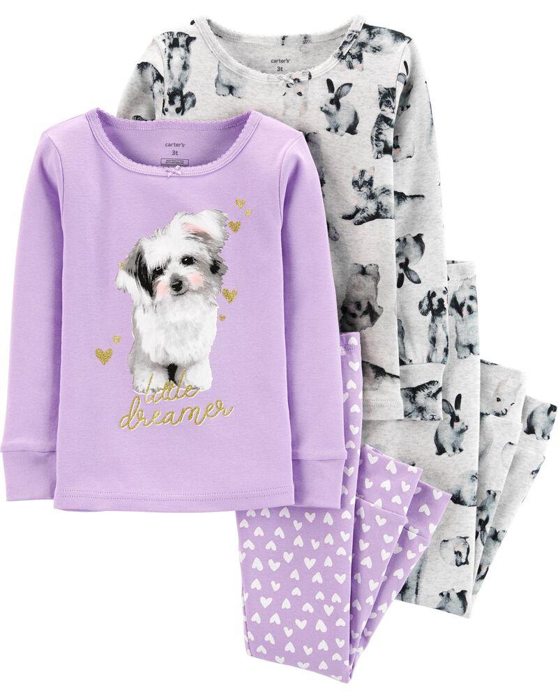 Pijama Carter's 4 Peças Animals