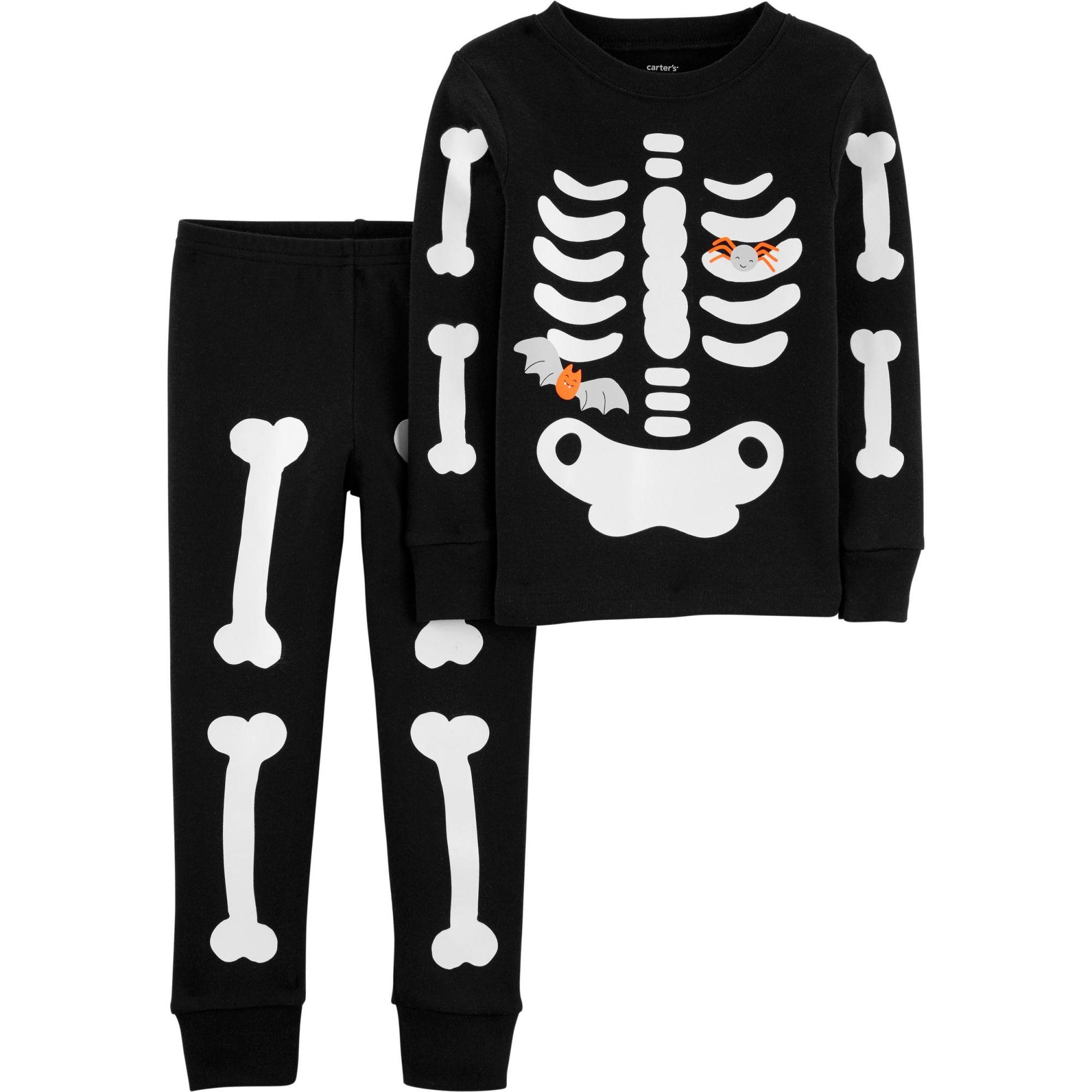 Pijama Carter's Esqueleto Brilha no Escuro