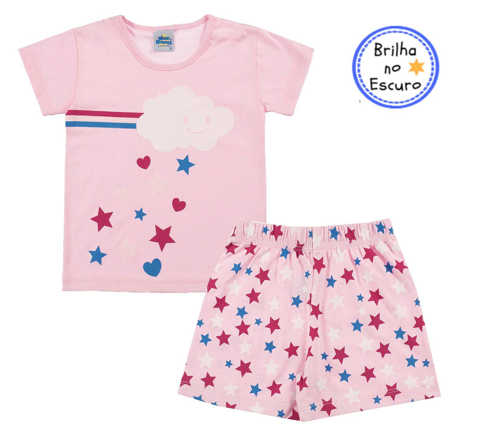 Pijama Cloud Rosa Bicho Bagunça