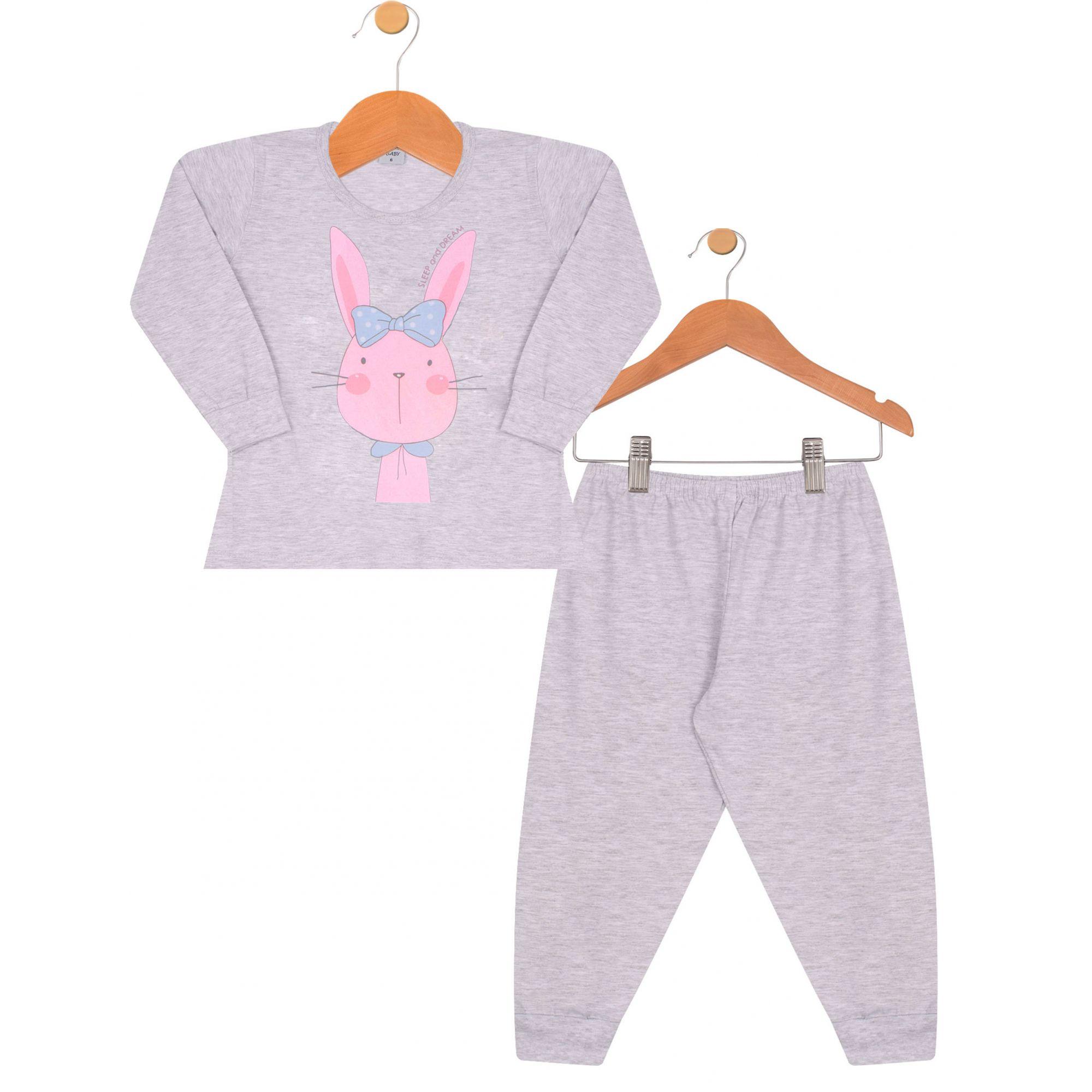Pijama Coelhinha  Junkes Baby Mescla