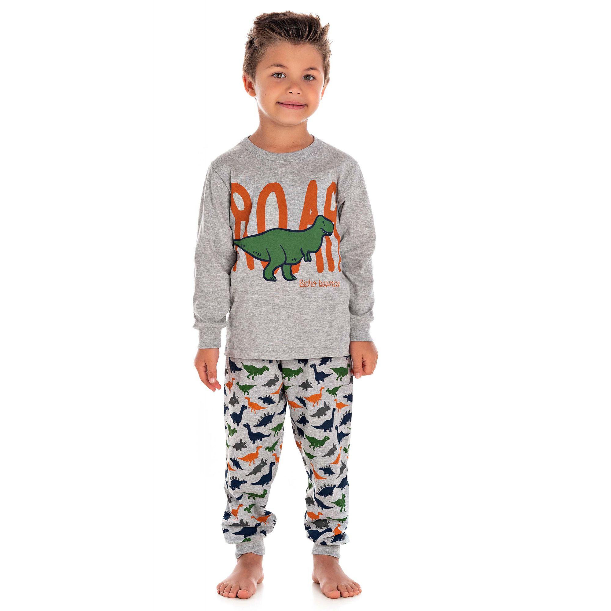 Pijama Dino Mescla Bicho Bagunça