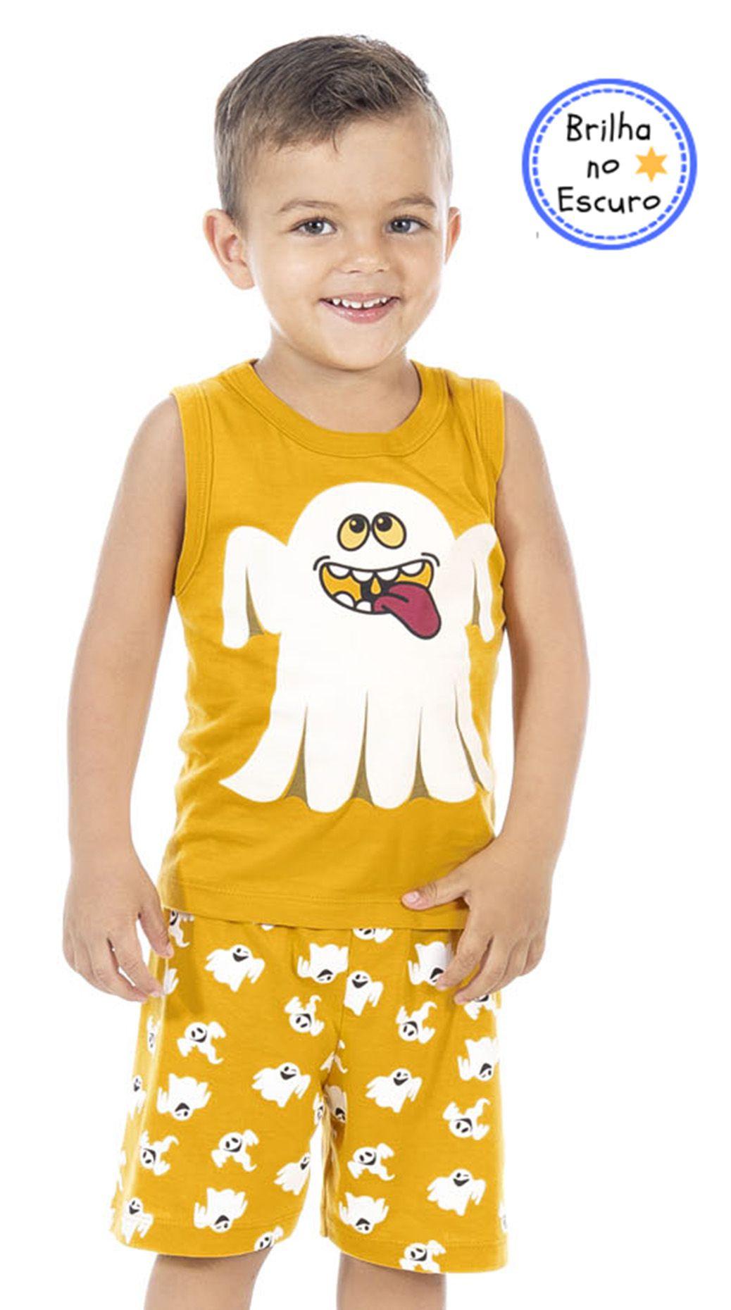 Pijama Fantasminha Mostarda Bicho Bagunça
