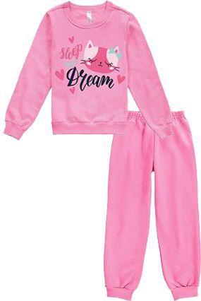Pijama Flanelado Malwee Gatinha Rosa