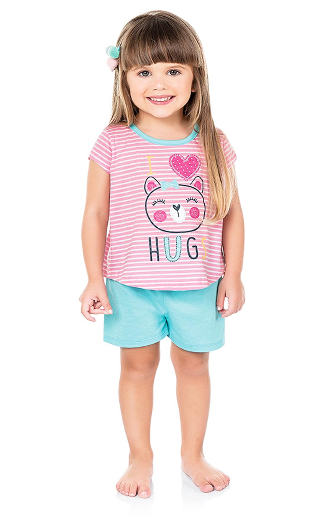 Pijama Hugs Rosa Kiko e Kika
