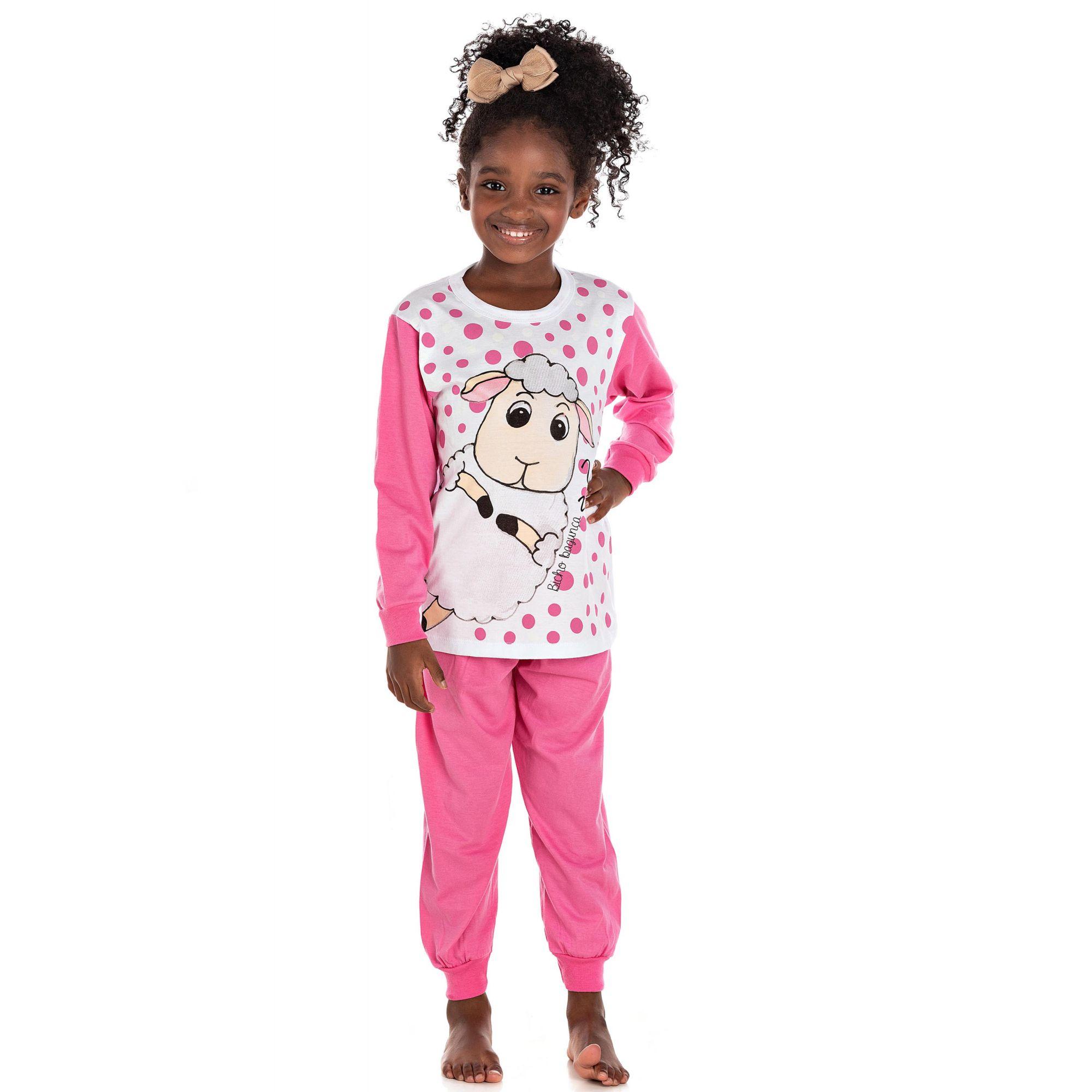 Pijama Ovelha Bicho Bagunça Chiclete