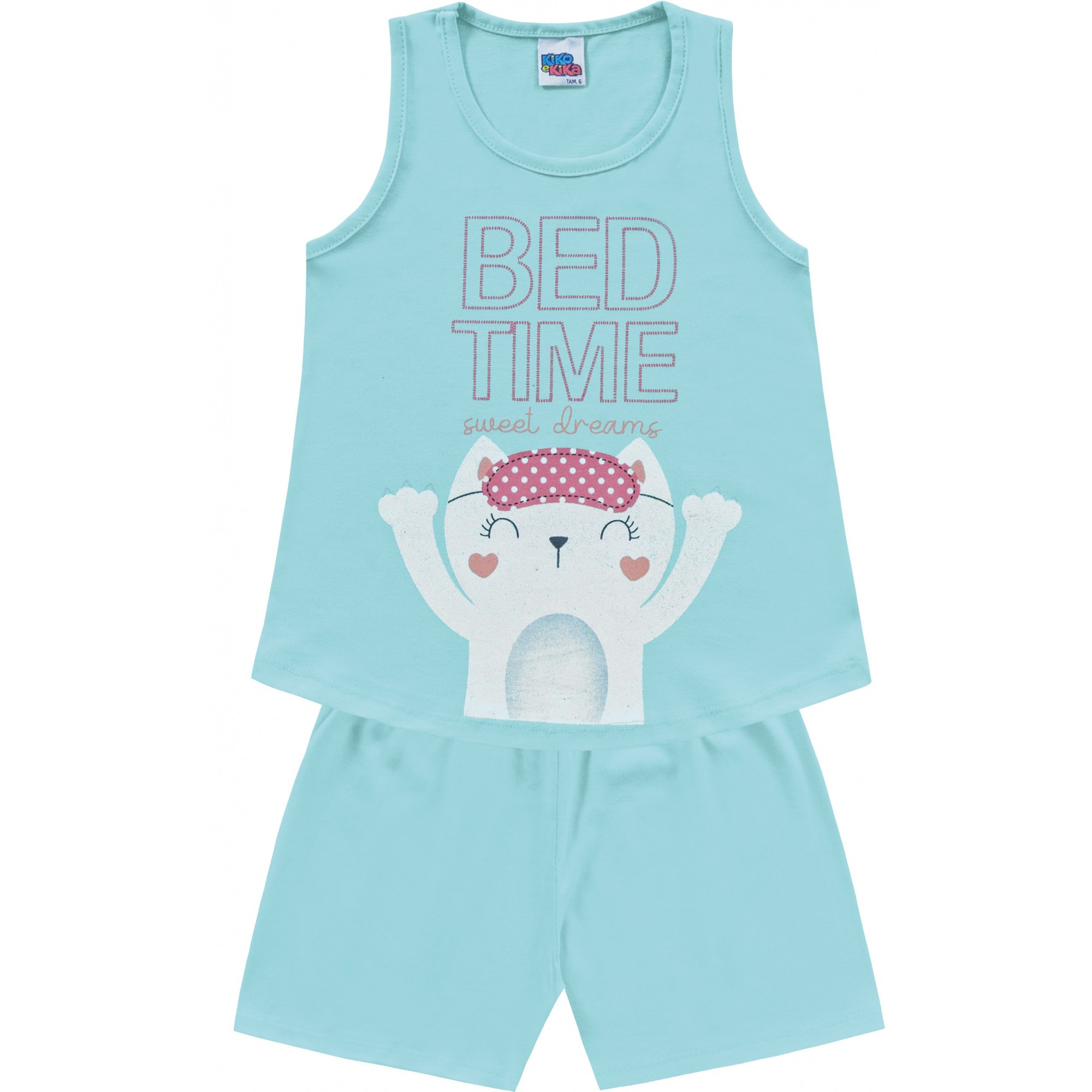 Pijama Regata Bed Time Água Kiko e Kika