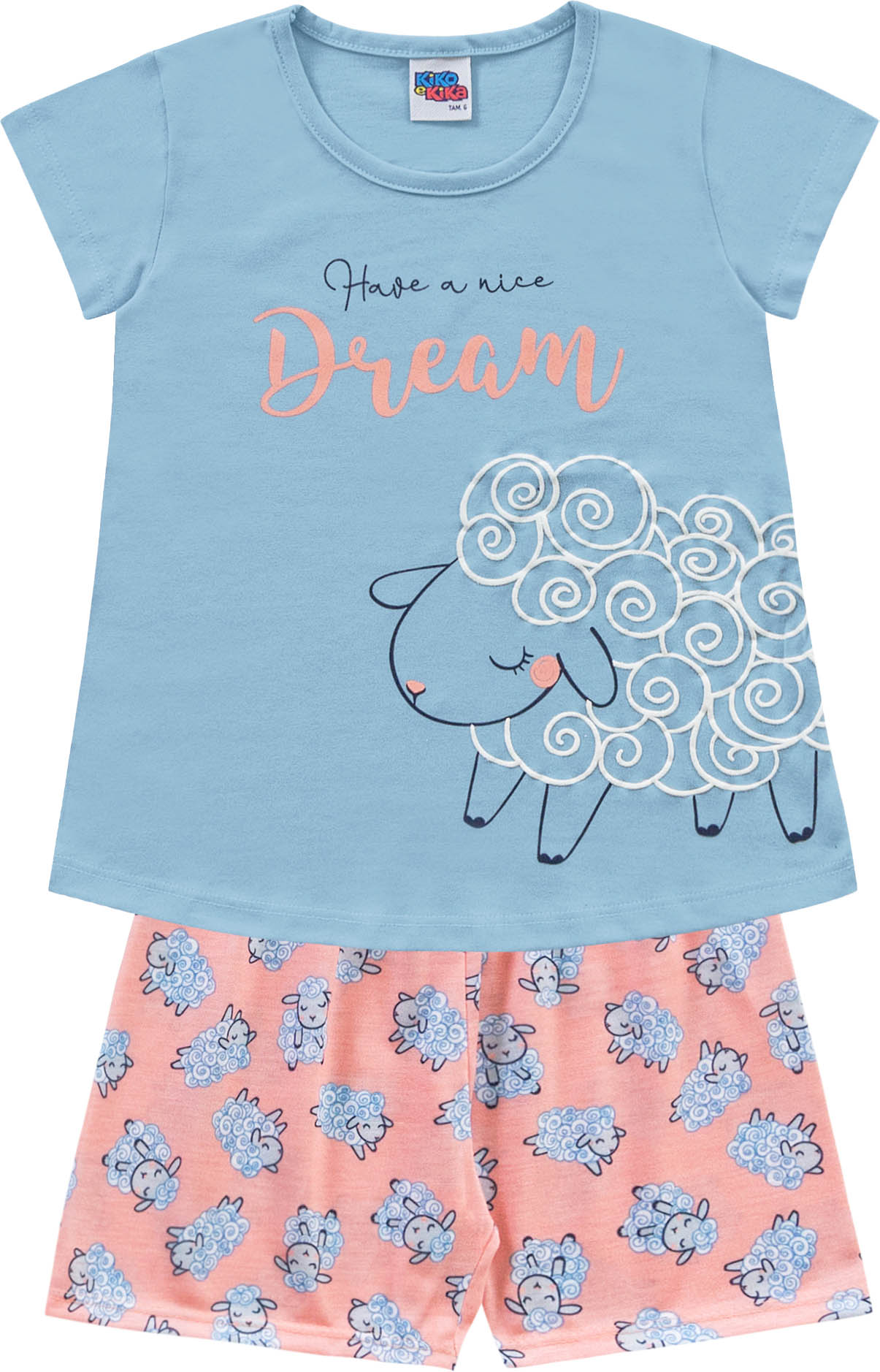 Pijama Regata Dream Azul Kiko e Kika
