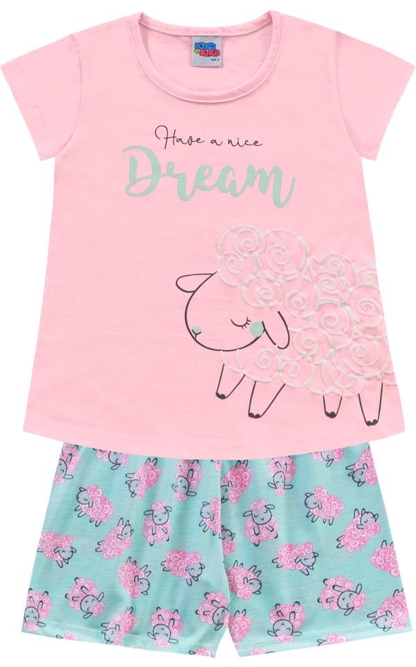 Pijama Regata Dream Rosa Kiko e Kika