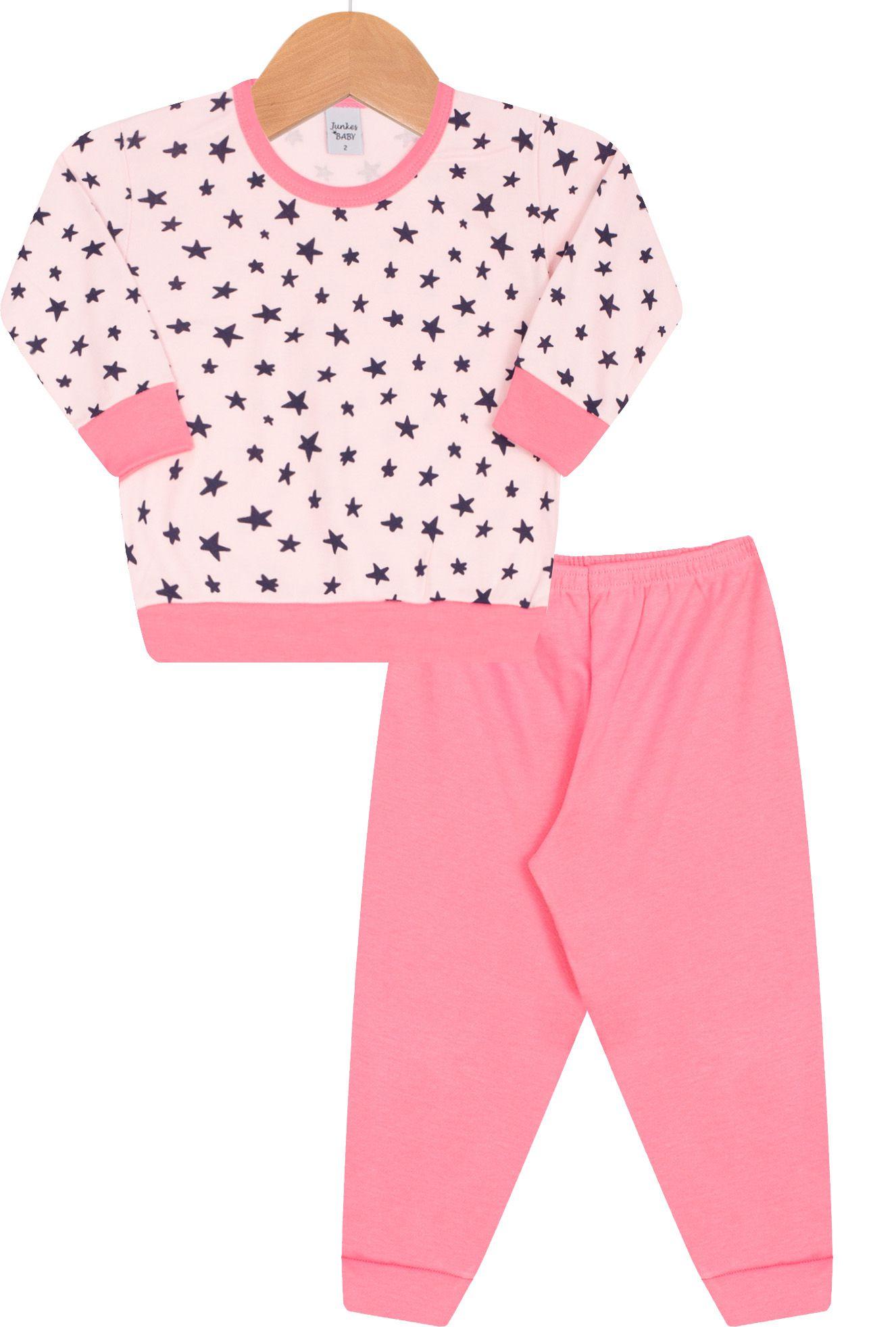 Pijama Suedine Junkes Baby Estrelinhas