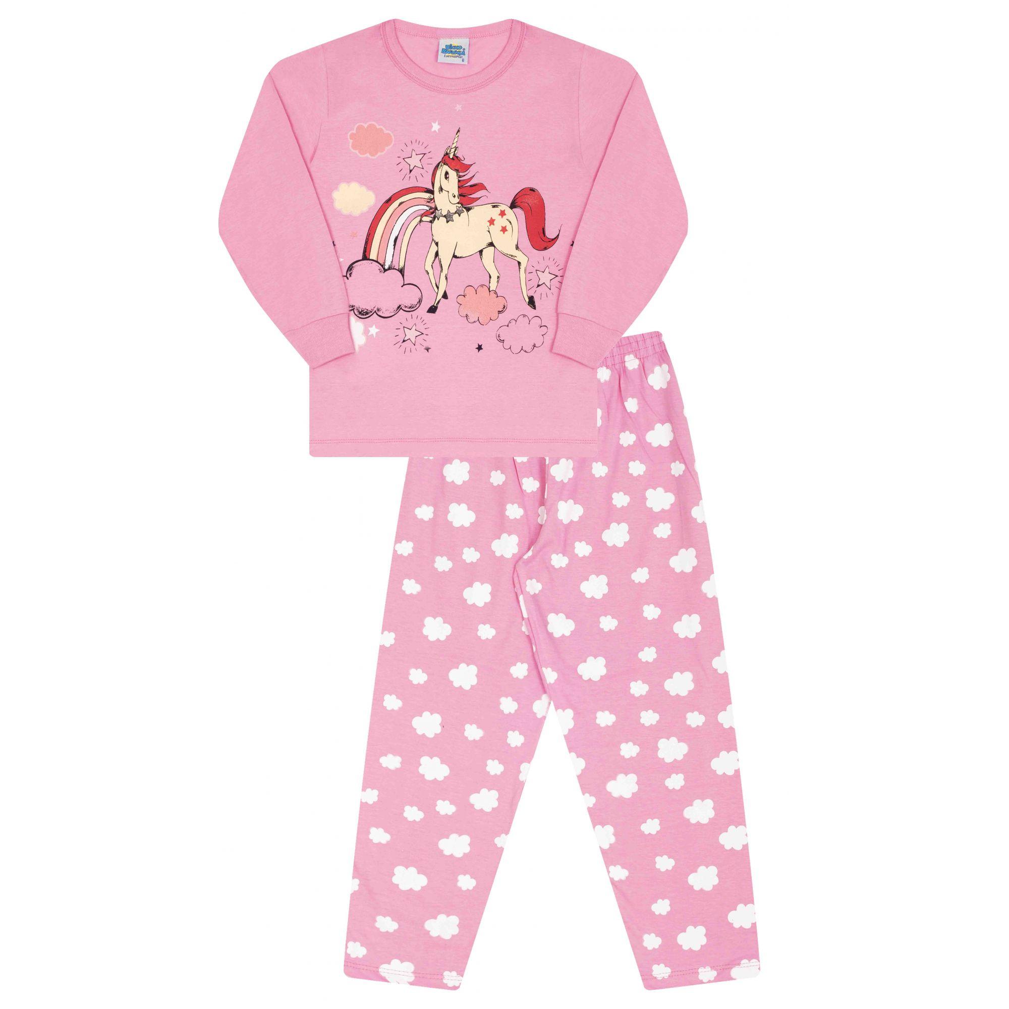 Pijama Unicórnio Bicho Bagunça Rosa