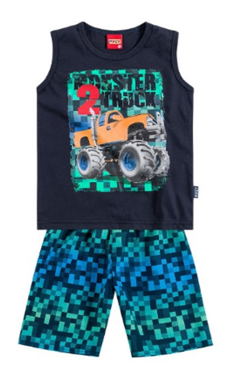 Regata e Bermuda Kyly Monster Truck