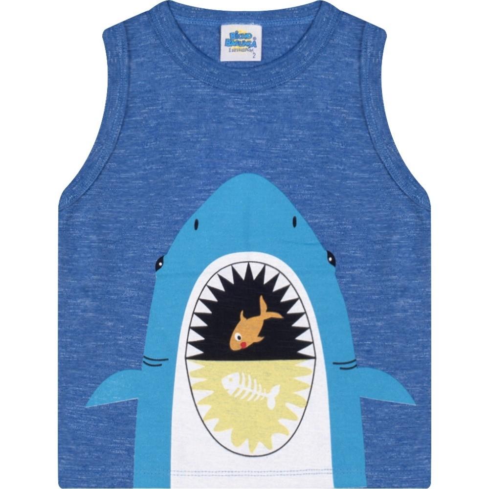 Regata Tubarão Azul Bicho Bagunça