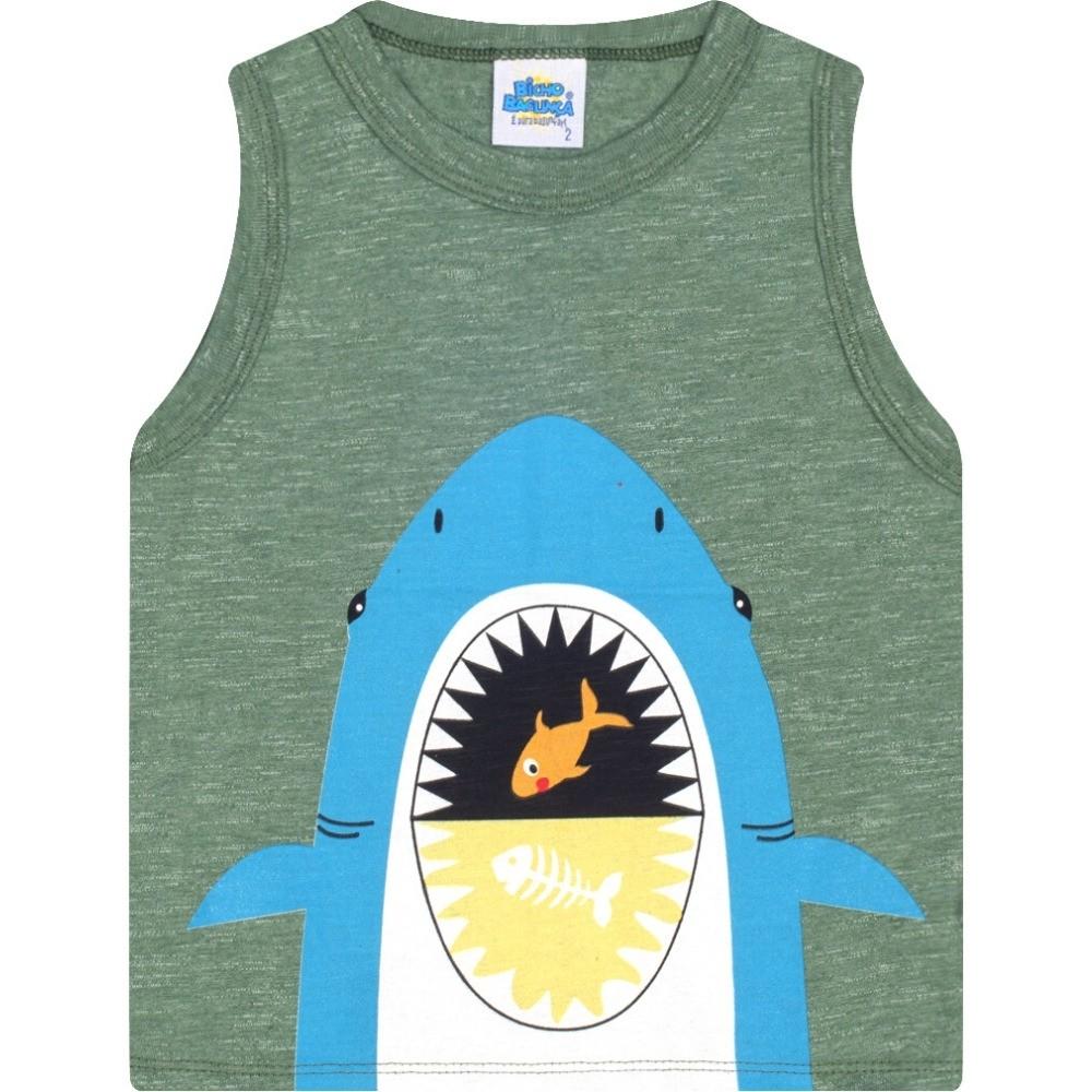 Regata Tubarão Verde Bicho Bagunça