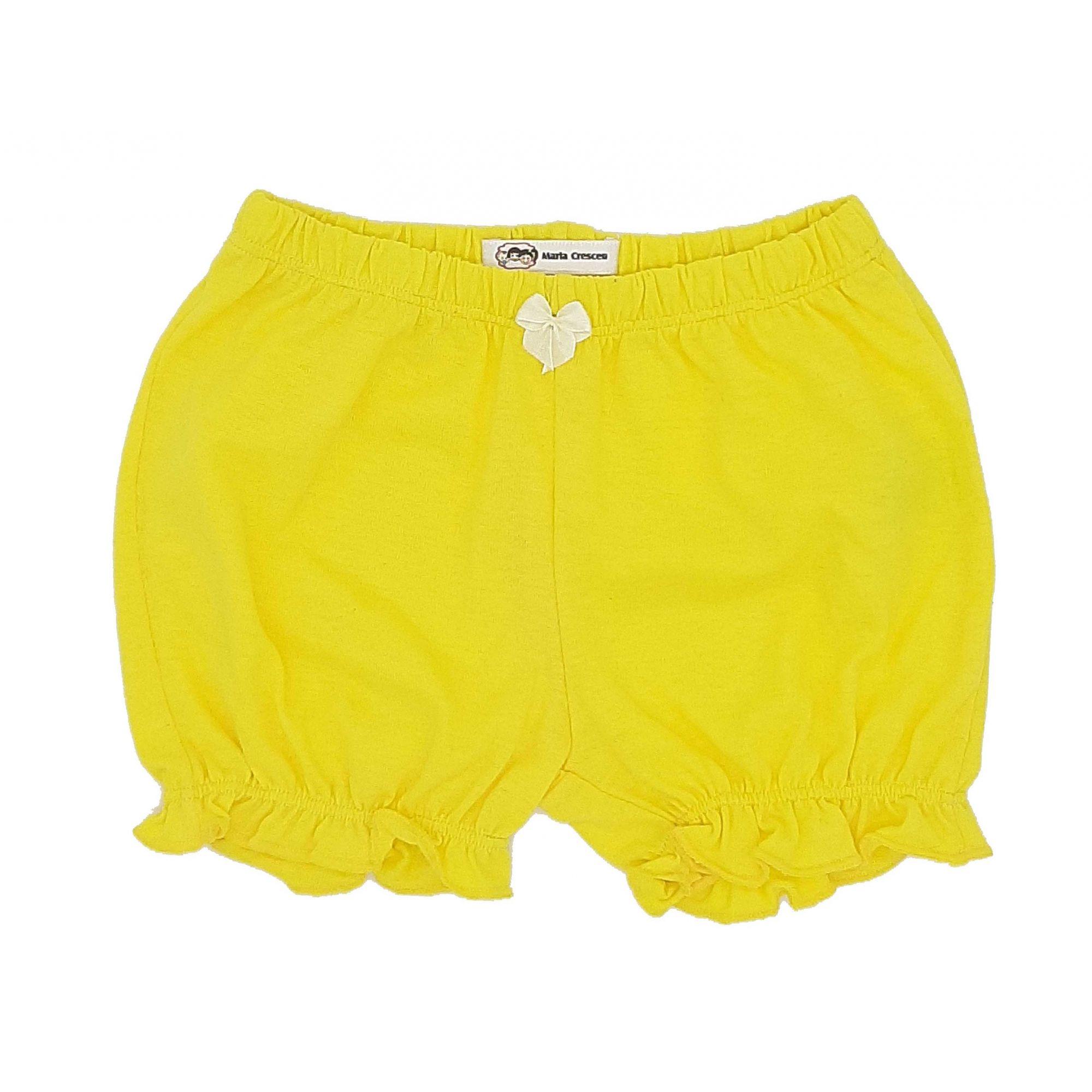 Short Amarelo Maria Cresceu