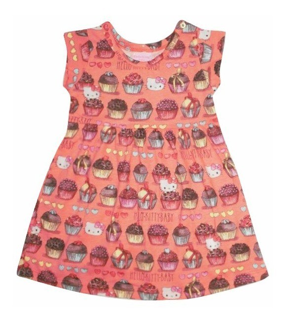 Vestido Candies Hello Kitty Coral
