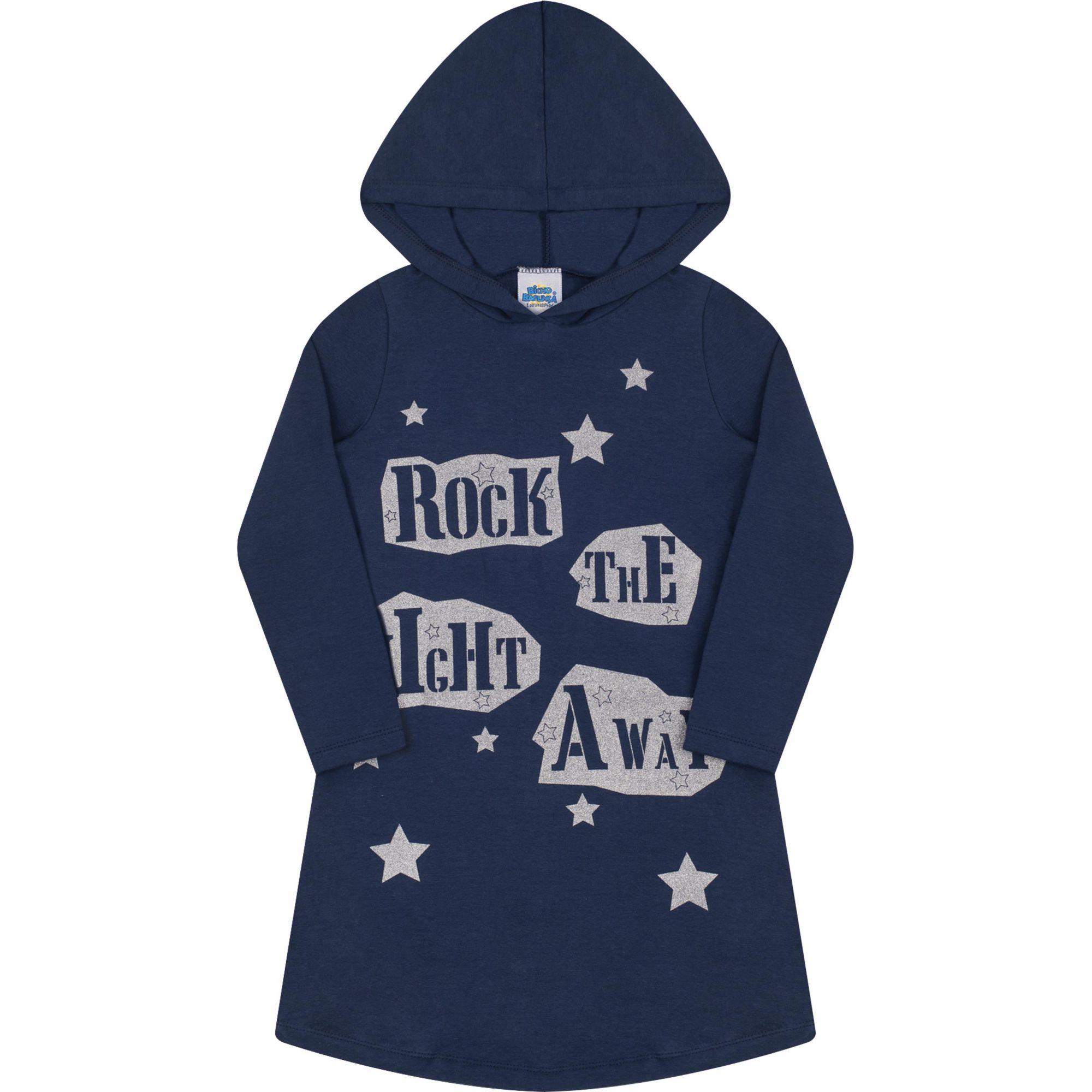 Vestido com Capuz Rock Bicho Bagunça Marinho