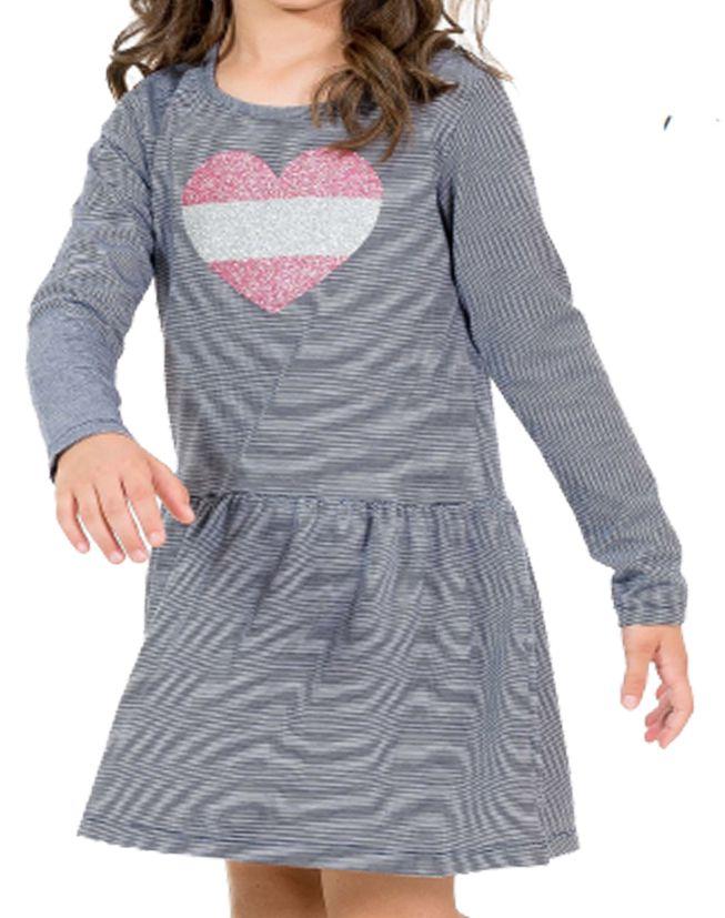 Vestido Coração Strass Tinkbink