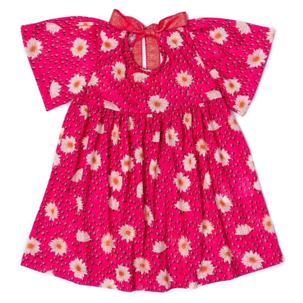 Vestido Floral Menina Rosa TileSul