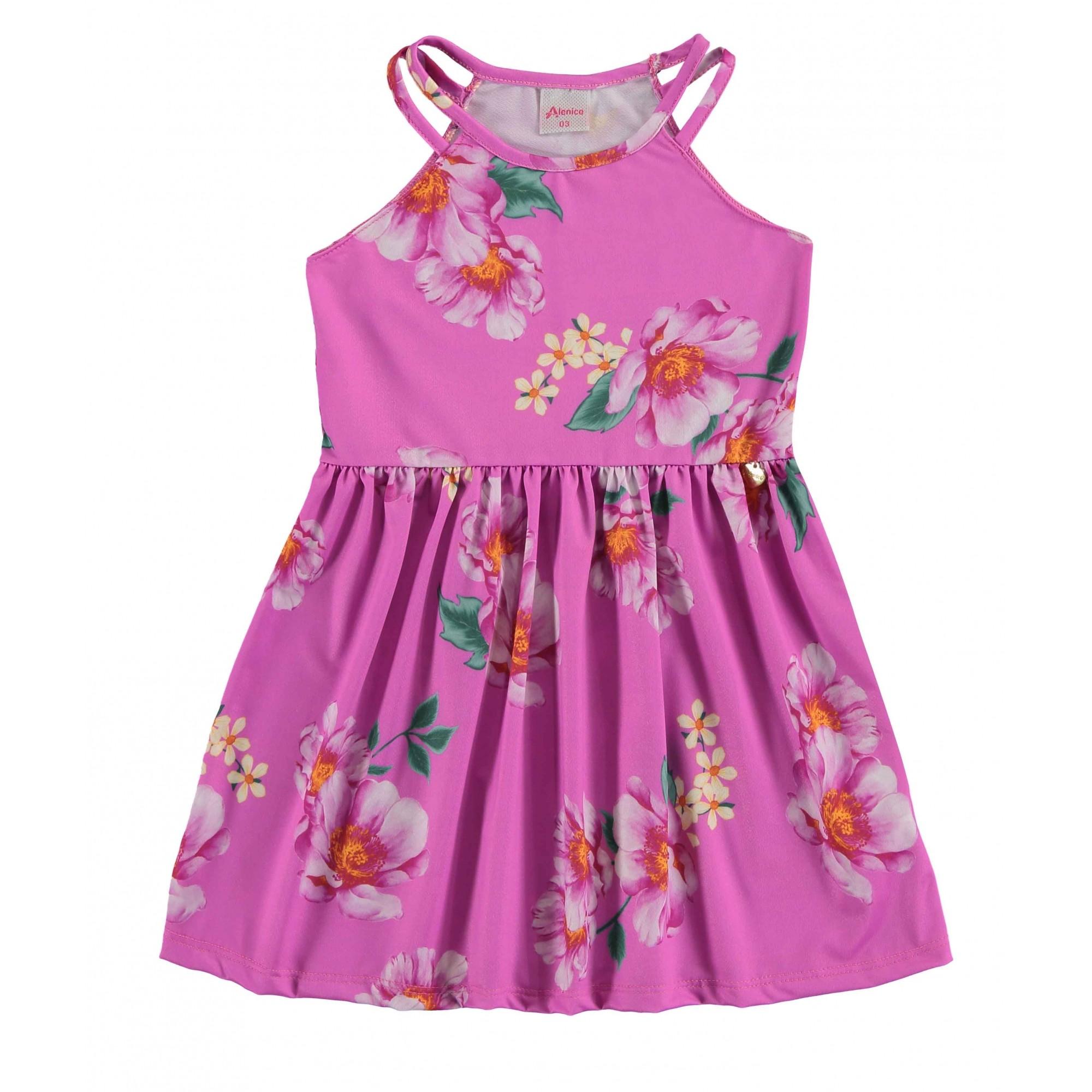 Vestido Floral Rosa Alenice
