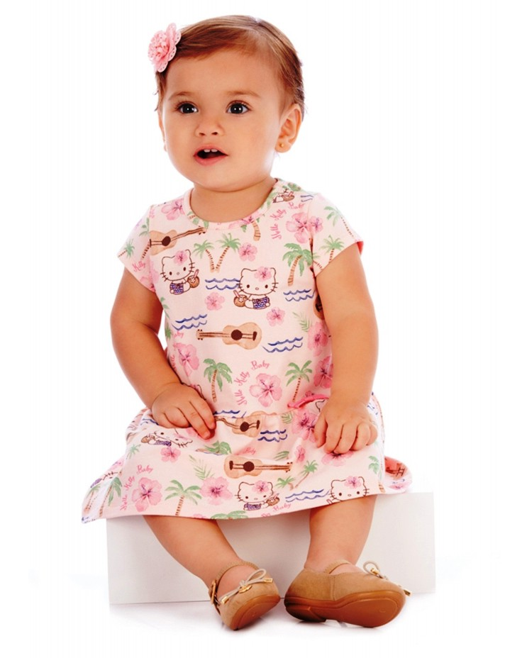 Vestido Hello Kitty Rosa