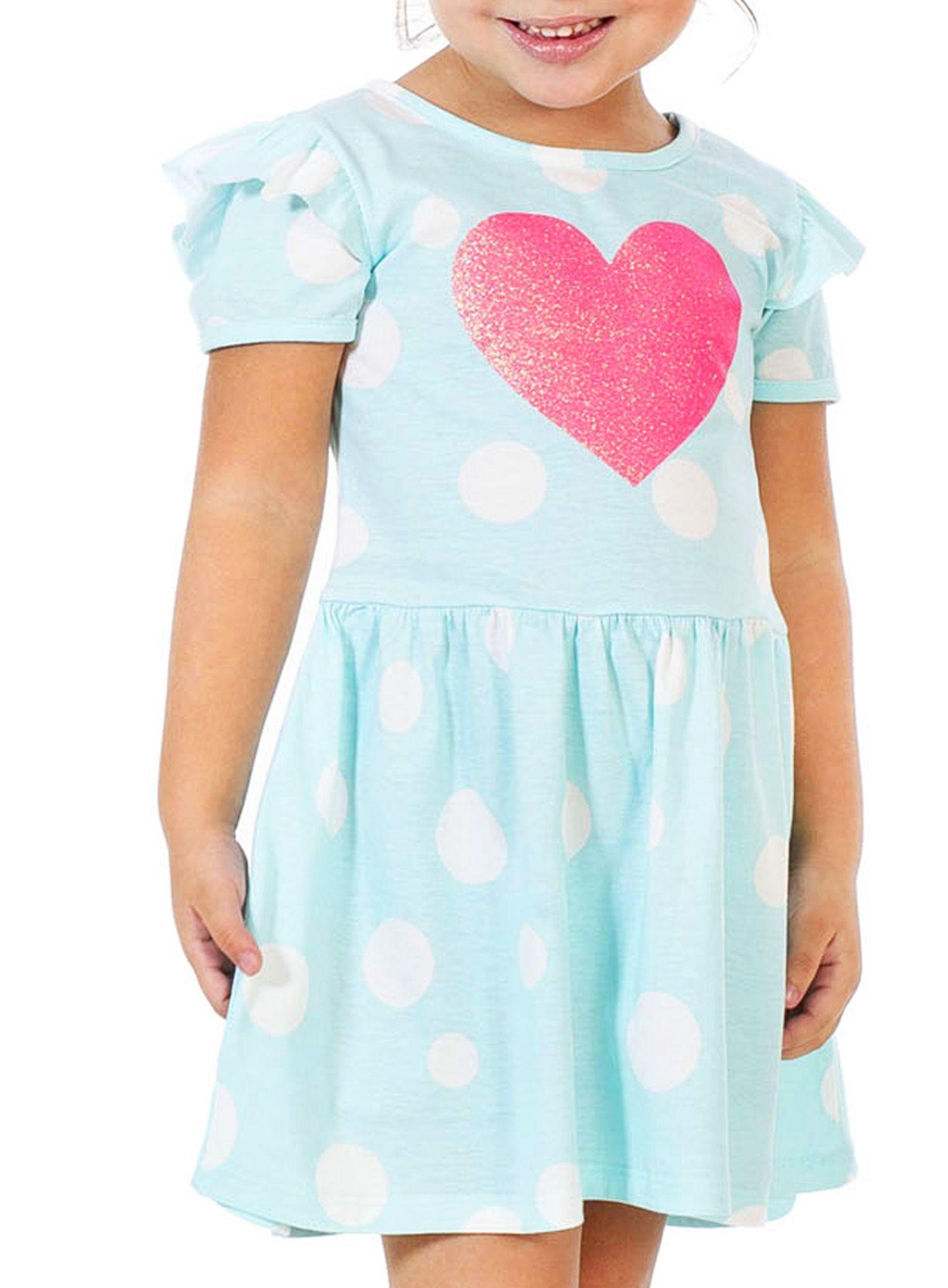 Vestido Infantil Heart Água