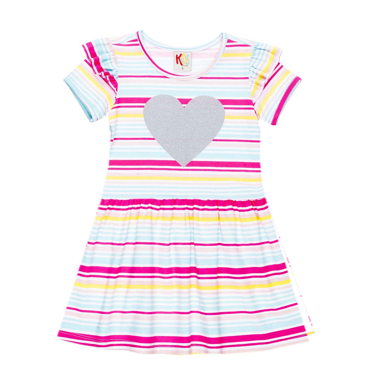 Vestido Infantil Heart Listrado
