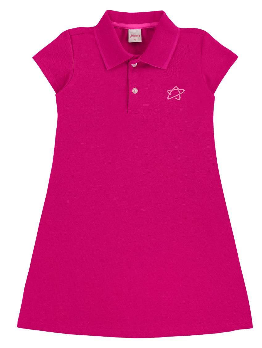 Vestido Polo em Piquê Alenice Pink
