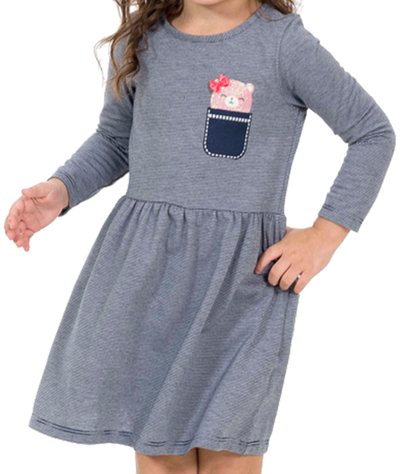 Vestido Ursinha Bolso Tinkbink