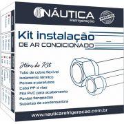Kit Instalacao de Ar Condicionado 12 / 18.000 Btus com Suporte em Polímero de 400mm