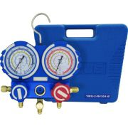 Manifold Analógico EOS Value VMG-2-R410A-B R22 R134a R410A R407C com Mangueiras 5/16
