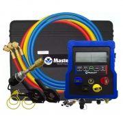 Manifold Digital Mastercool 99903-BR2 com 4 Vias 60 Gases Sensor de Vácuo Pirani
