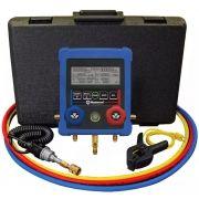 Manifold Digital Vacuômetro Sub Resfriamento Super Aquecimento Sensor Temperatura Mastercool 99661 com Mangueiras